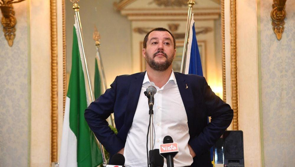 El ministro de Interior de Italia y líder de la ultraderechista Liga, Matteo Salvini