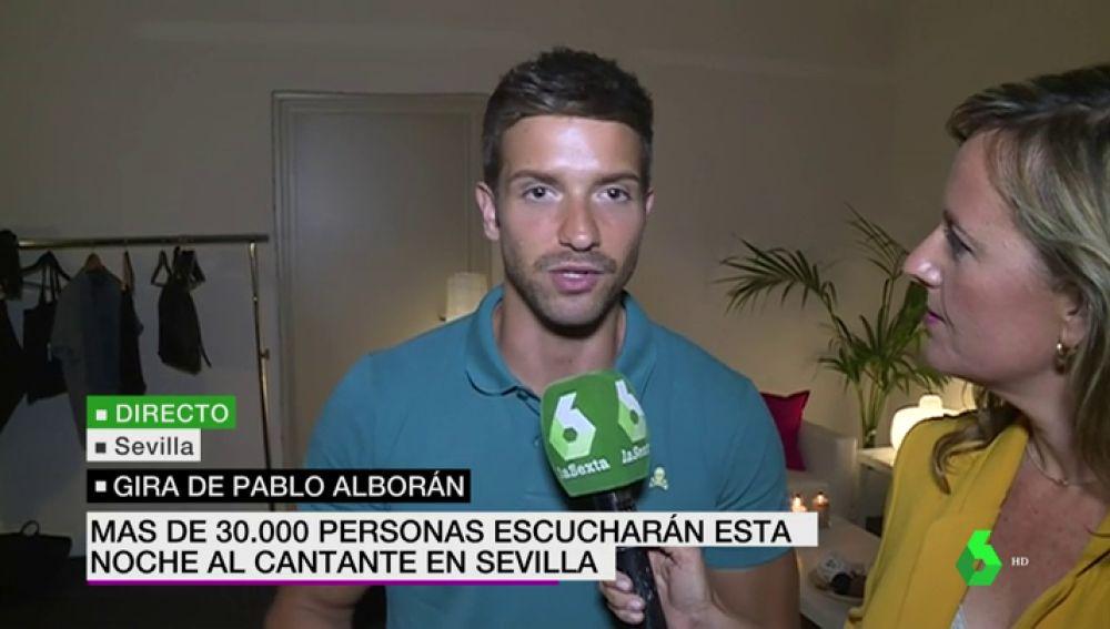 Pablo Alborán antes de su concierto en Sevilla