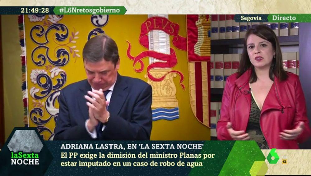 Adriana Lastra, portavoz del PSOE en el Congreso