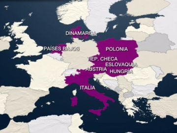 Países europeos partidarios del ala dura contra la inmigración