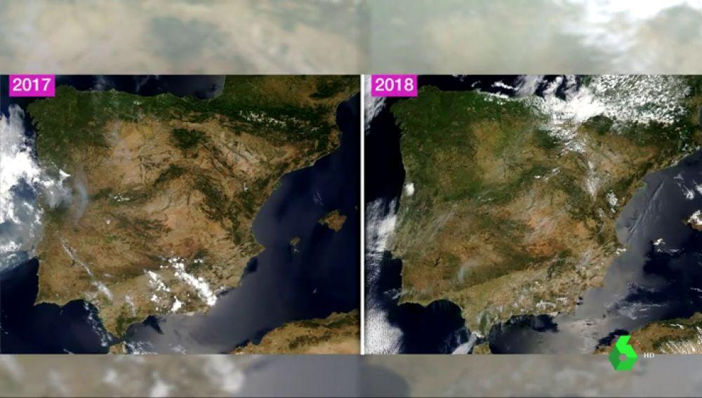 España, más verde de lo habitual