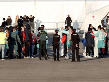 Dispositivo de la Guardia Civil y la Policía Nacional desplegado en la zona