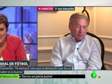 Cristina Pardo y Javier Clemente
