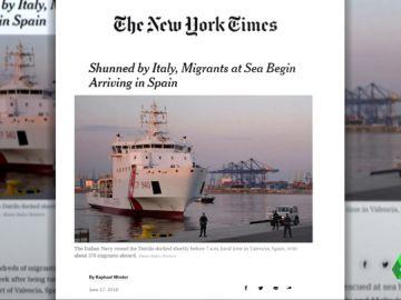 Gran cobertura de la prensa internacional a la llegada de los 630 inmigrantes a España