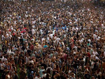 Vista general durante la tercera jornada del festival Sónar
