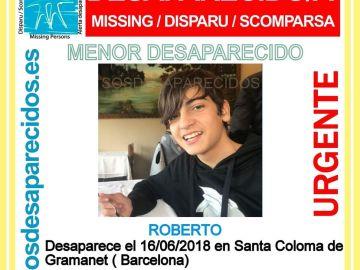 Imagen del joven desaparecido
