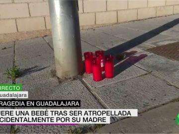 Muere una bebé de 21 meses al ser atropellada por su madre cuando aparcaba en Guadalajara