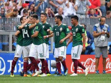 México celebra un gol
