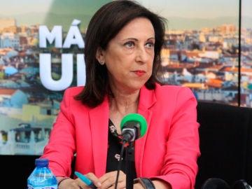 Margarita Robles durante una entrevista en Onda Cero