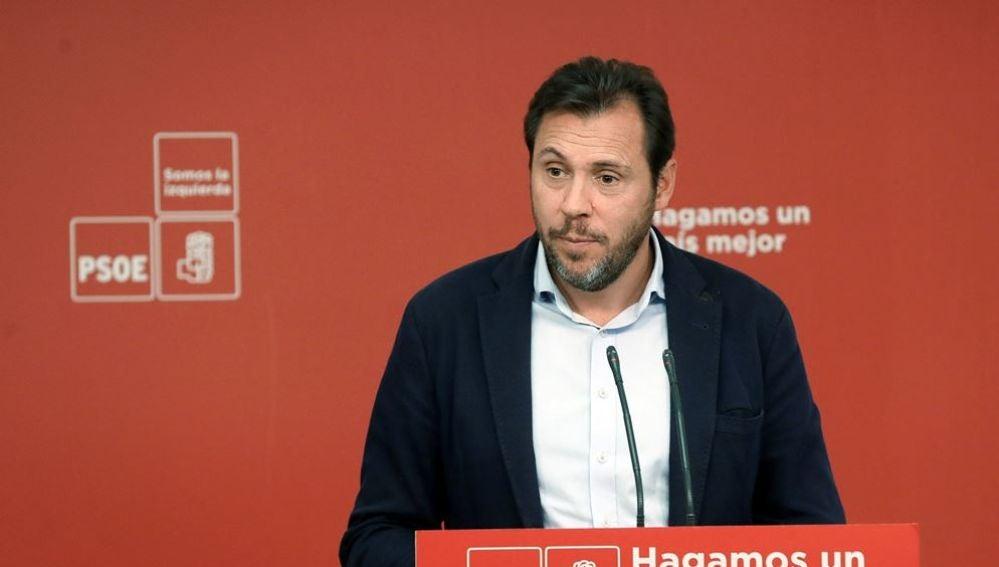 El portavoz de la Ejecutiva Federal del PSOE, y alcalde de Valladolid Óscar Puente