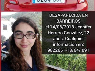 Cartel de la joven desaparecida en Barreiros difundido por los padres a través de las redes sociales