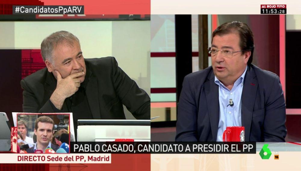 """Fernández Vara revela en ARV que Sánchez le ofreció """"un ministerio importante"""" que rechazó por su """"compromiso"""" con Extremadura"""