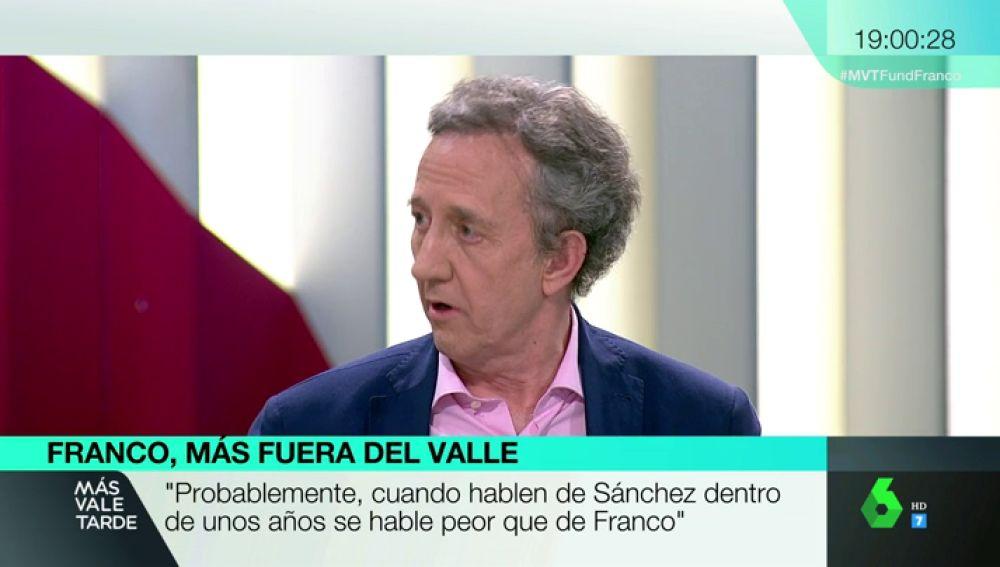 """Jaime Alonso, portavoz de la Fundación Franco: """"Cuando hablen de Sánchez dentro de 30 años se hablará peor que de Franco"""""""
