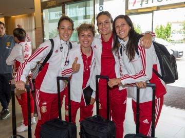 Las jugadoras de la selección femenina, rumbo a Kazán