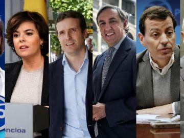 Candidatos a suceder al Rajoy al frente del PP