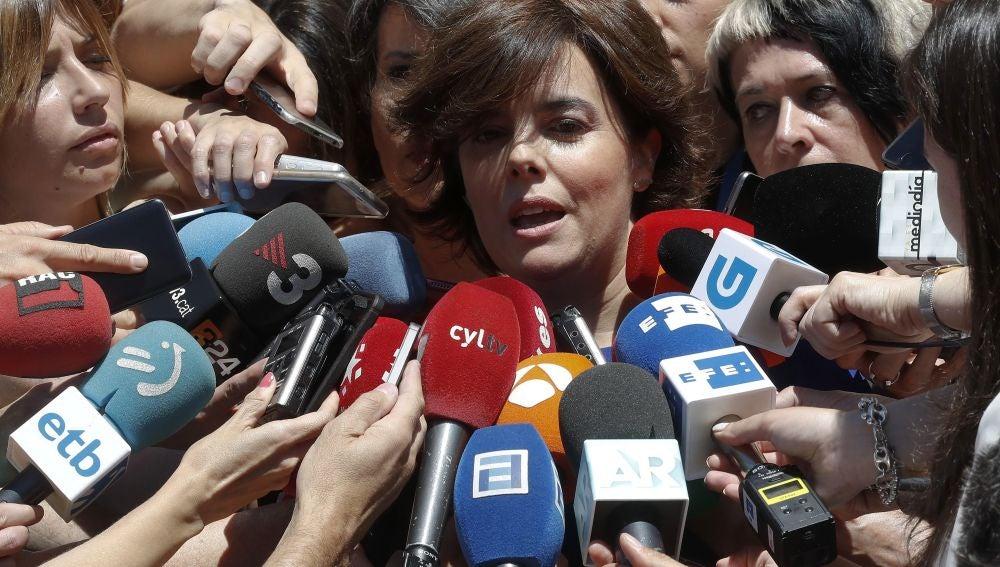 Soraya Sáenz de Santamaría anuncia su candidatura a presidir el PP