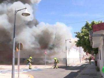 Humo del incendio en Valencia