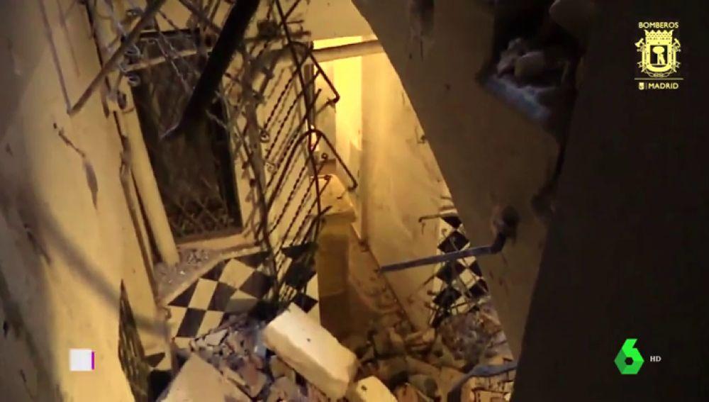 Derrumbe de un edificio en el centro de Madrid