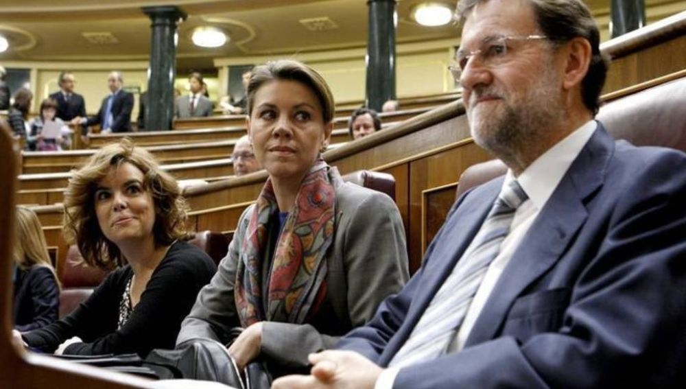 Soraya Sáenz de Santamaría y María Dolores de Cospedal