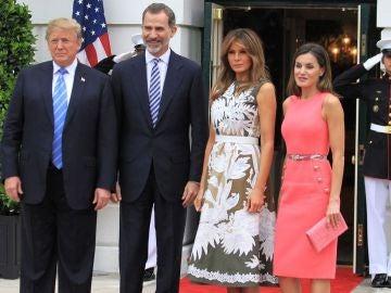Los reyes con Donald y Melania Trump