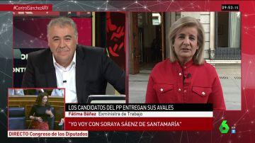 """La exministra Báñez muestra su apoyo a Sáenz de Santamaría para liderar el PP: """"Con ella sumaremos dentro y fuera del partido"""""""