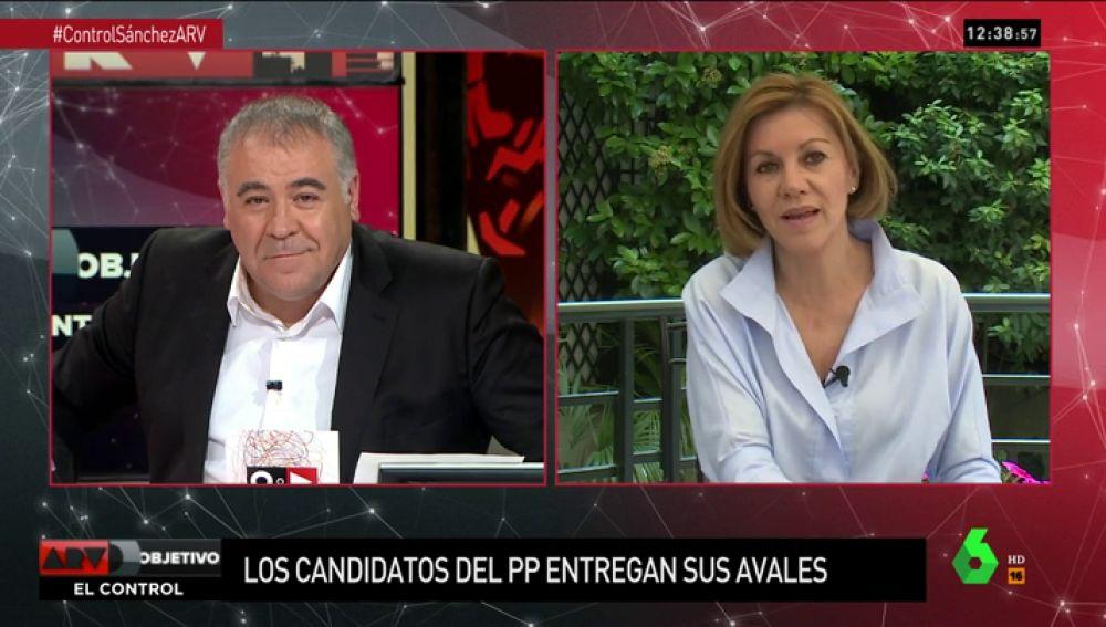 """Dolores de Cospedal: """"Integraría a Soraya Sáenz de Santamaría. En la candidatura cabemos todos"""""""