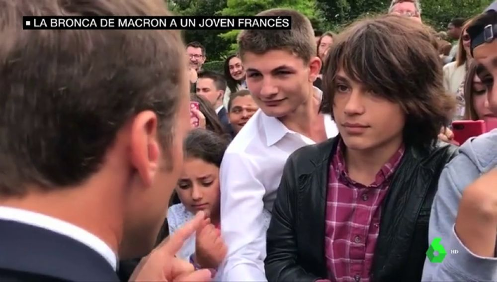 El joven al que abroncó Macron