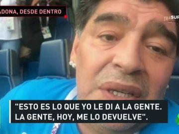 La 'fiesta' de Maradona en el Argentina-Nigeria, desde dentro