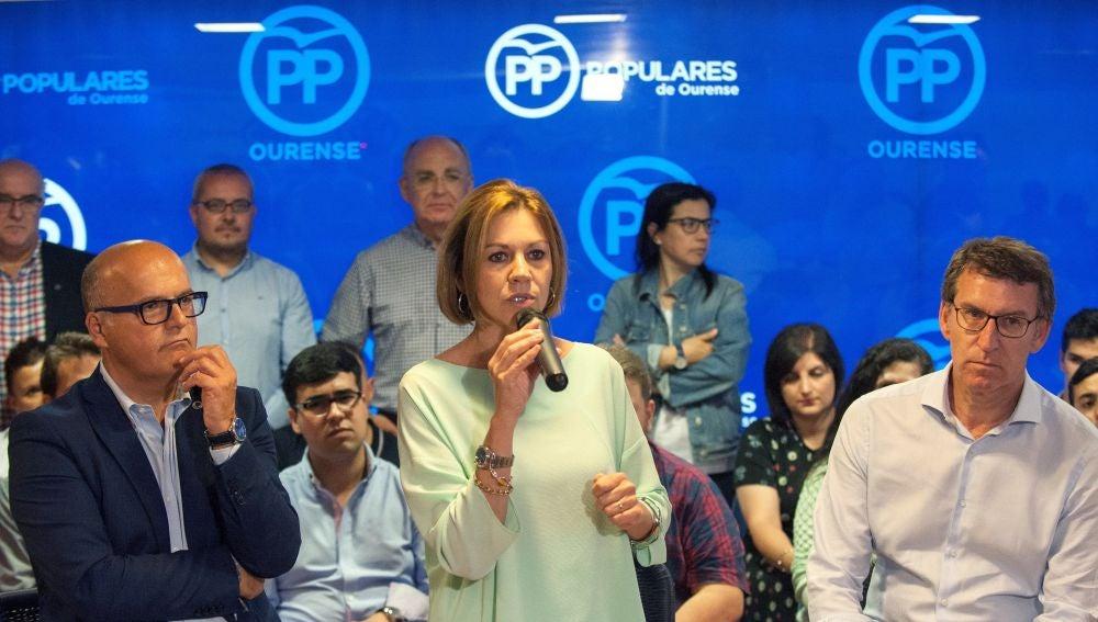 La candidata a la Presidencia del PP, María Dolores de Cospedal