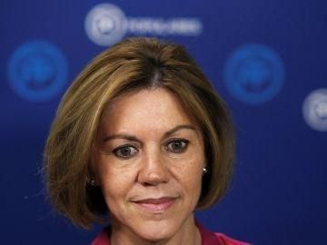 La secretaria general del PP y candidata a la Presidencia del partido, María Dolores de Cospedal