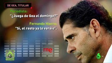 Fernando Hierro confirma que De Gea jugará ante Rusia