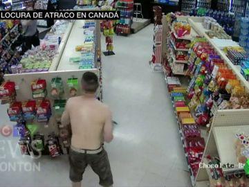 Locura de atraco en Canadá