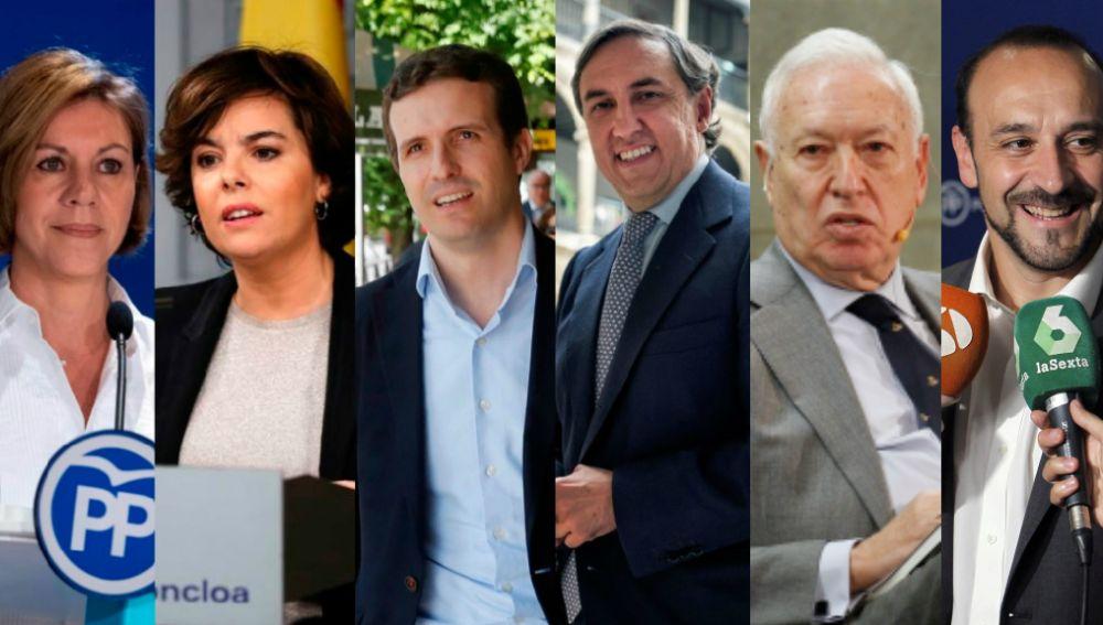 Candidatos a liderar el PP
