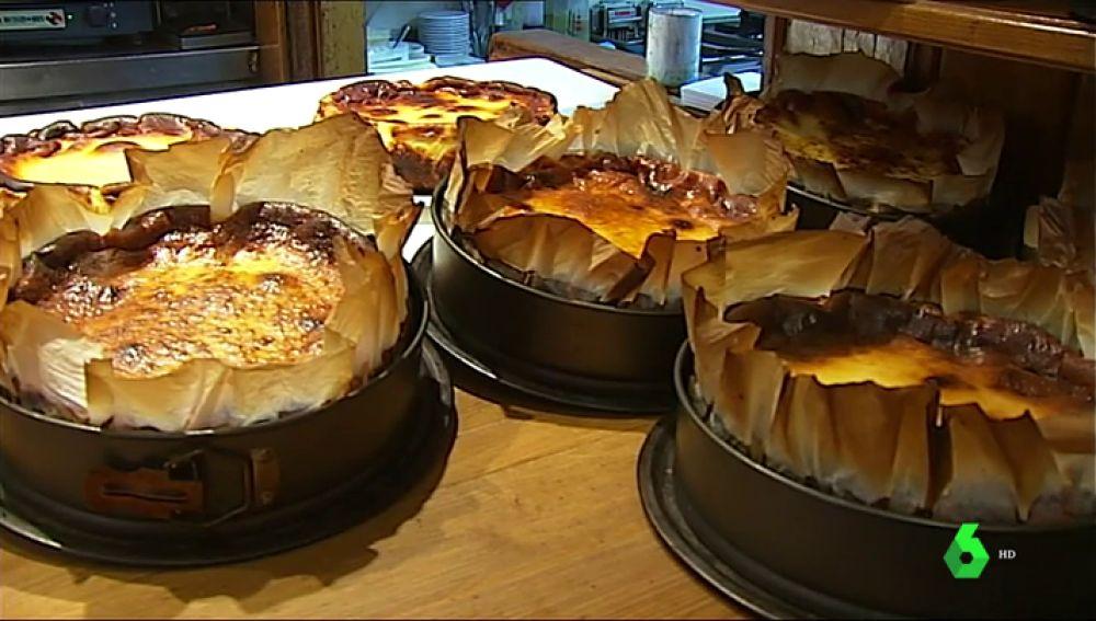 Las Tartas de queso del bar La Viña en Donostia