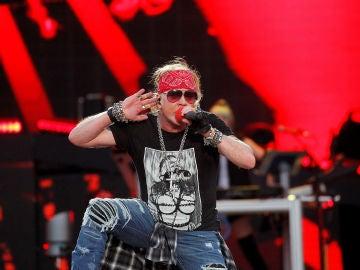 Axl Rose durante el concierto de Guns N'Roses en Madrid