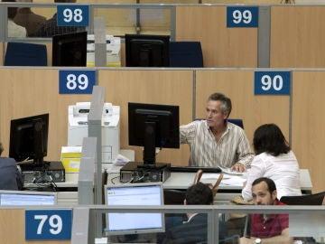 Vista de la delegación de Hacienda de Guzmán el Bueno, en Madrid.