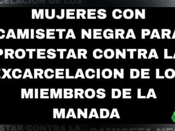 San Fermín se viste de negro para protestar por la libertad de 'La Manada'