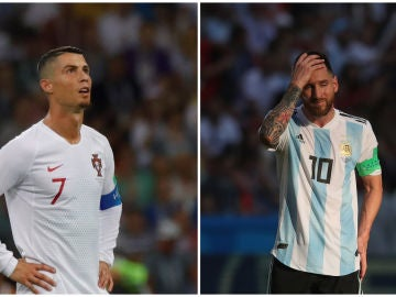Cristiano y Messi, fuera del Mundial