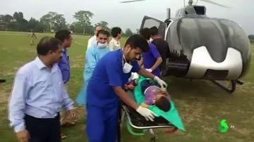 Los heridos han sido trasladados en helicóptero