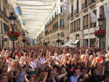 3.920 personas han seguido la coreografía de los bailaores