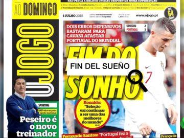 Portugal lamenta el adiós de su selección al Mundial tras perder contra Uruguay