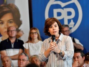 La precandidata a presidir el PP Soraya Sáenz de Santamaría