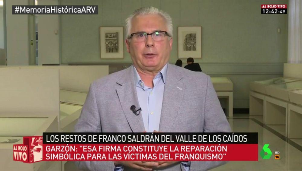 El exjuez de la Audiencia Nacional, Baltasar Garzón