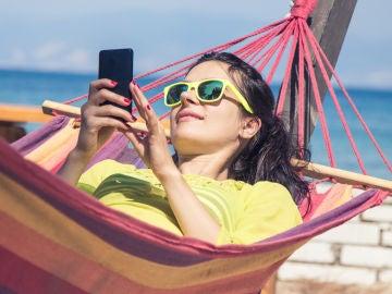 Datos móviles en la playa