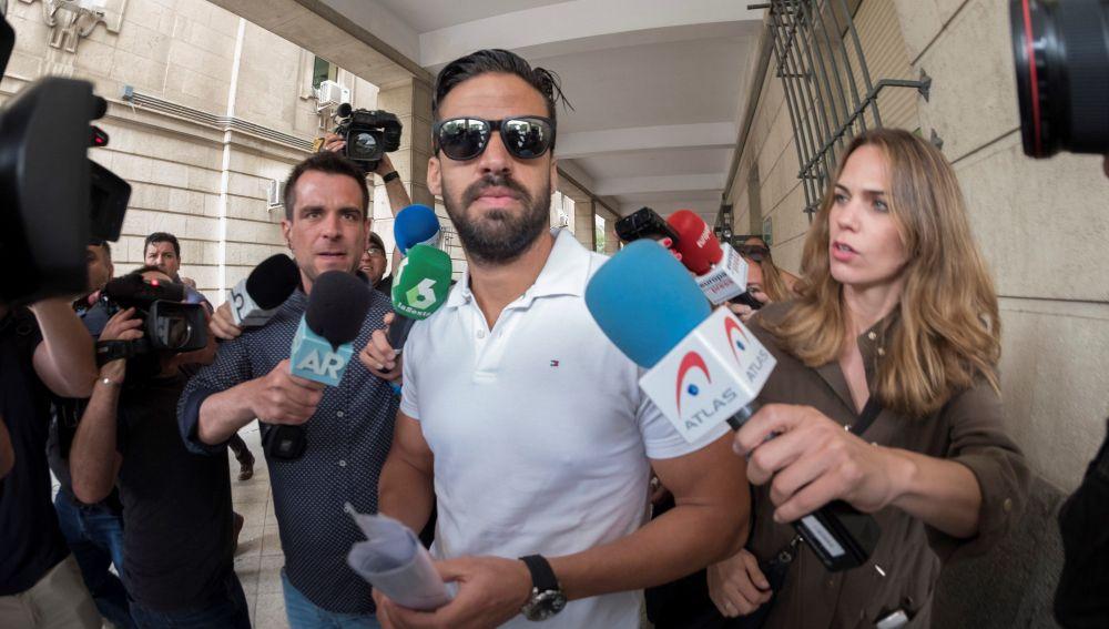 Antonio Manuel Guerrero, uno de los integrantes de 'La Manada', ante el juzgado de guardia de Sevilla.