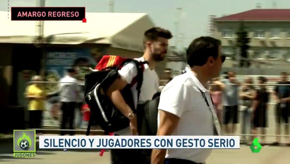Amargo regreso de la selección española: caras largas de los jugadores al abandonar Krasnodar