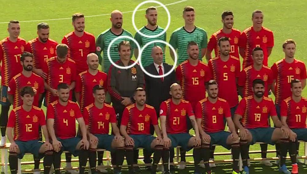 La foto de España antes del cese de Lopetegui
