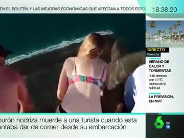 Un tiburón ataca a una turista