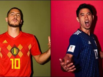 Hazard y Kagawa, de Bélgica y de Japón