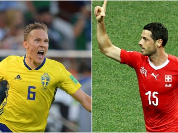 Suecia - Suiza, partido de octavos de final del Mundial de Rusia 2018